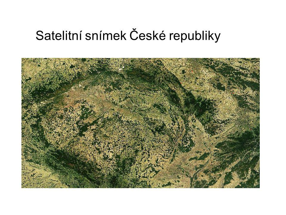Satelitní snímek České republiky