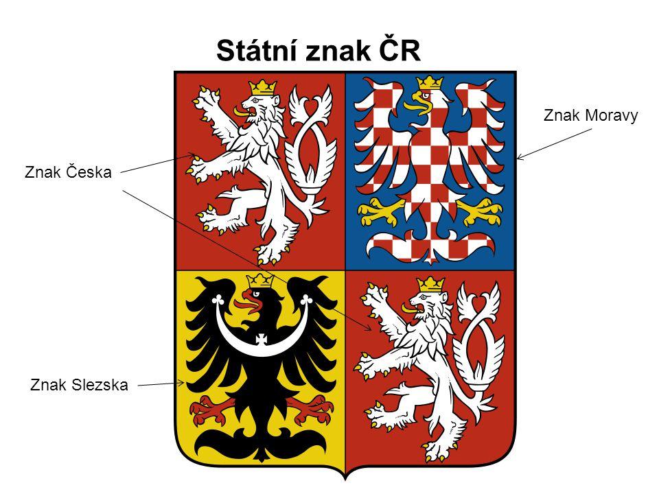 Státní znak ČR Znak Moravy Znak Česka Znak Slezska