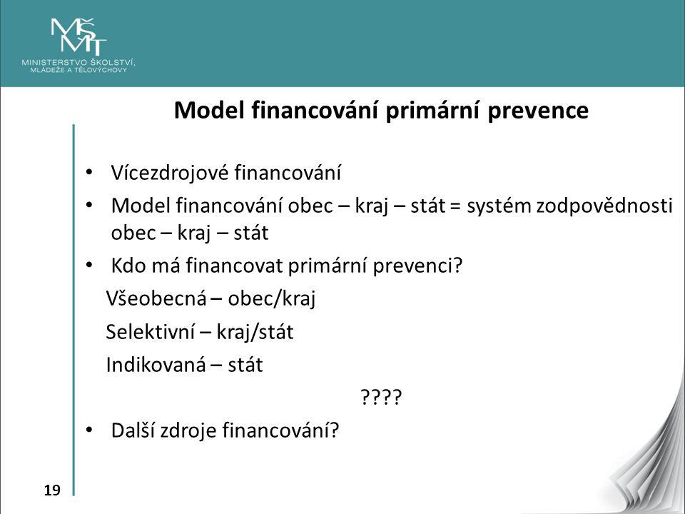Model financování primární prevence