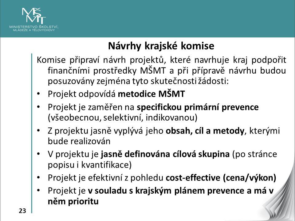 Návrhy krajské komise