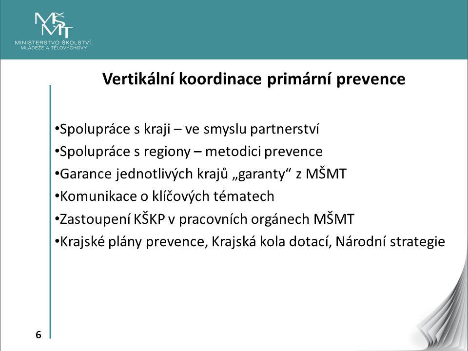 Vertikální koordinace primární prevence