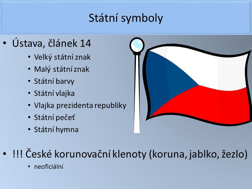 Státní symboly Ústava, článek 14