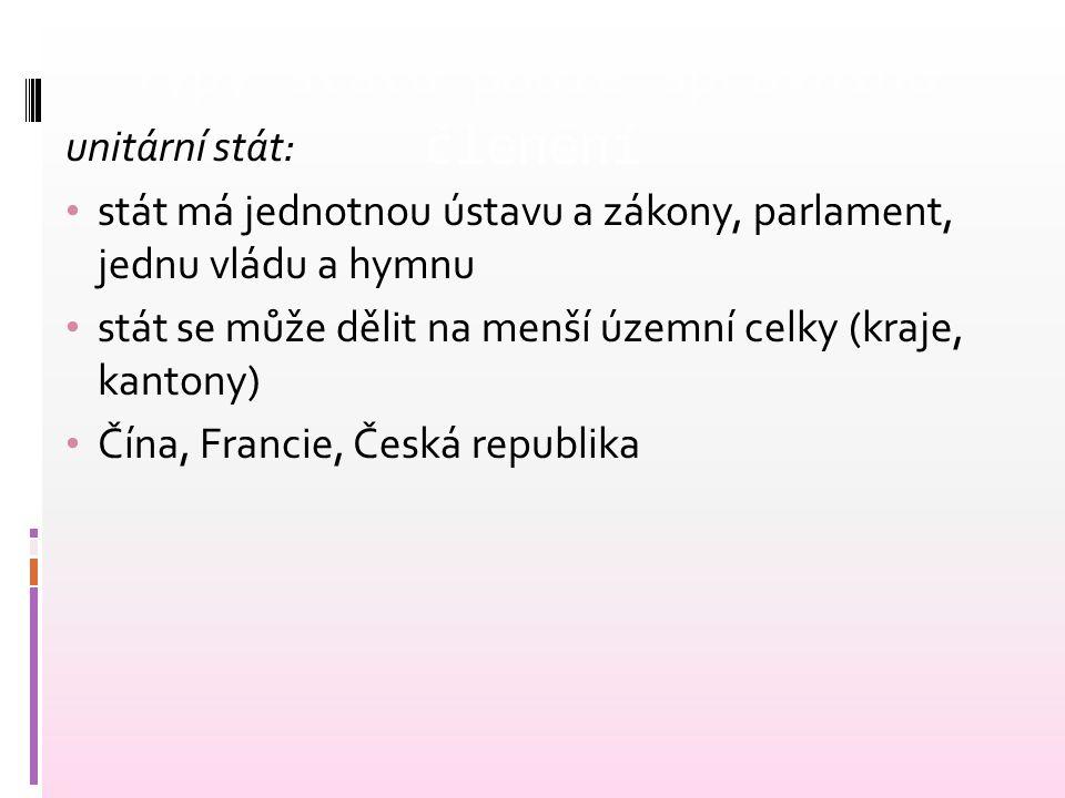 Typy státu podle správního členění