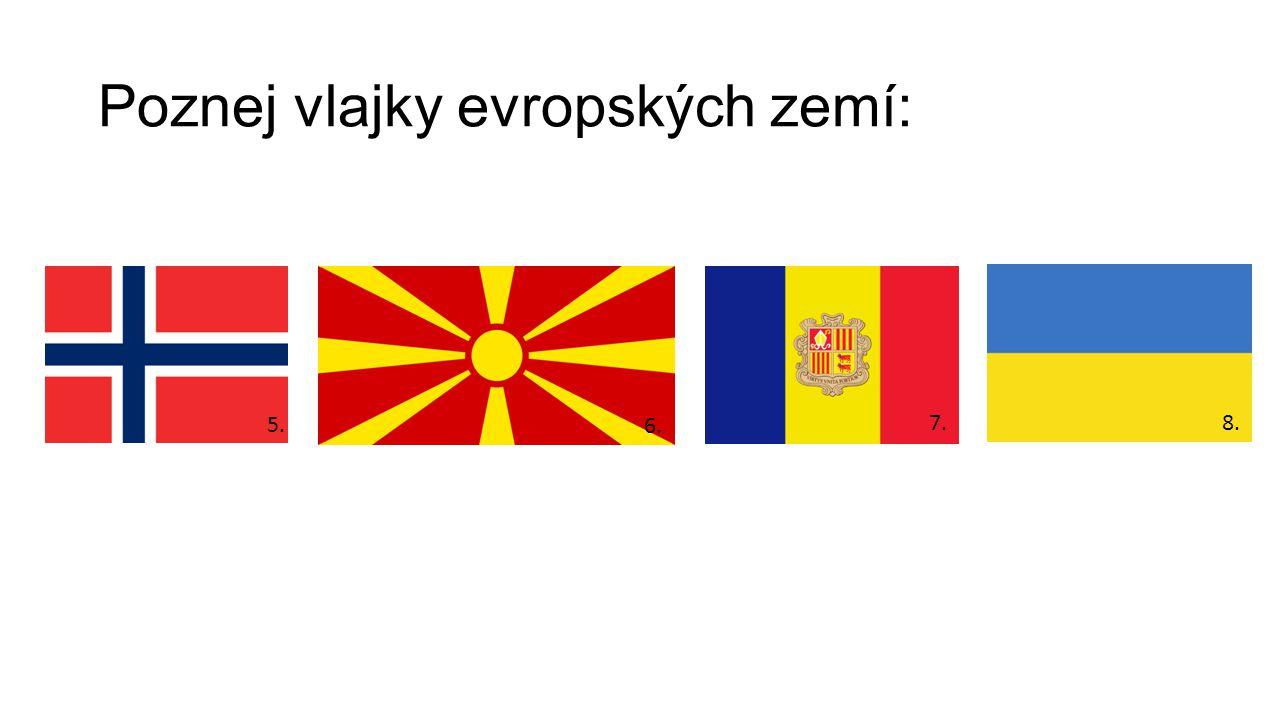 Poznej vlajky evropských zemí: