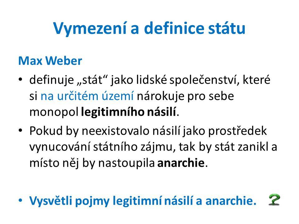 Vymezení a definice státu