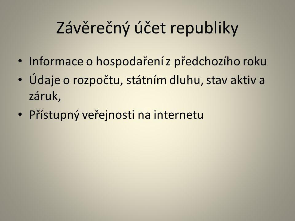 Závěrečný účet republiky
