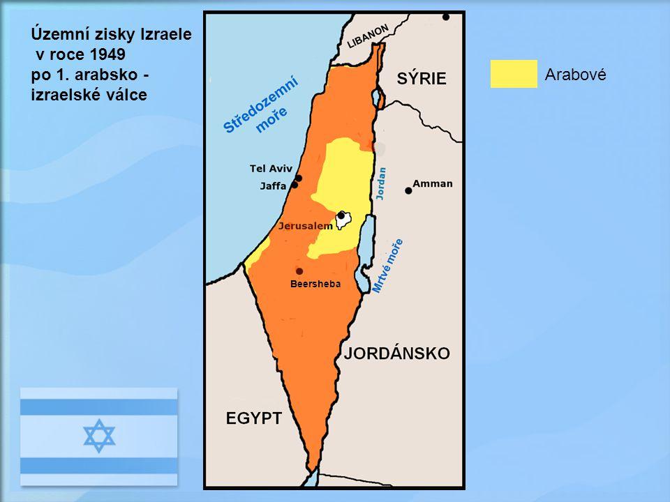 po 1. arabsko - izraelské válce SÝRIE Arabové