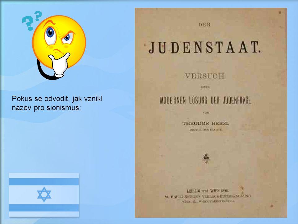 Pokus se odvodit, jak vznikl název pro sionismus: