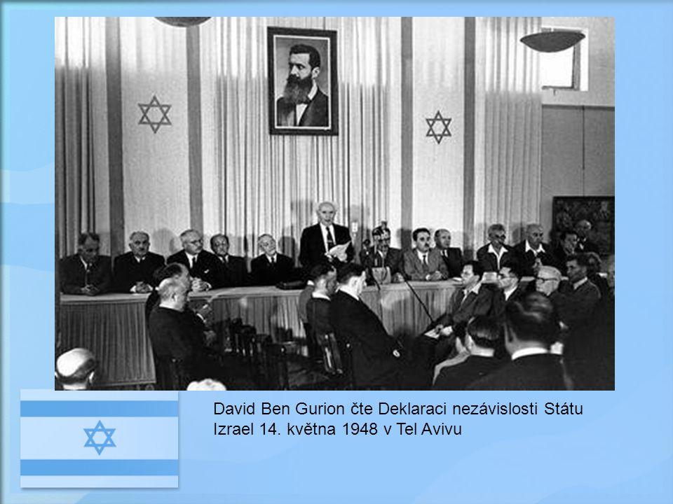 David Ben Gurion čte Deklaraci nezávislosti Státu Izrael 14
