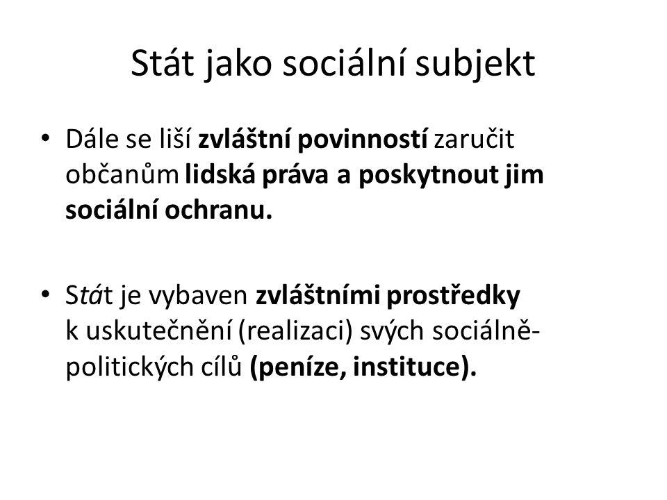 Stát jako sociální subjekt