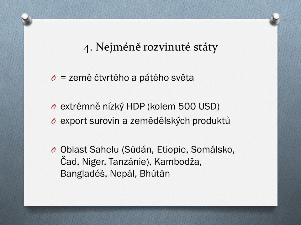 4. Nejméně rozvinuté státy