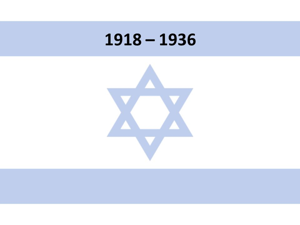 1918 – 1936