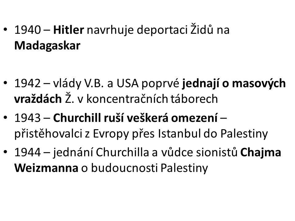 1940 – Hitler navrhuje deportaci Židů na Madagaskar