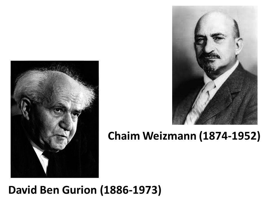 Chaim Weizmann (1874-1952) David Ben Gurion (1886-1973)