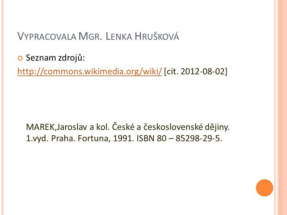Vypracovala Mgr. Lenka Hrušková