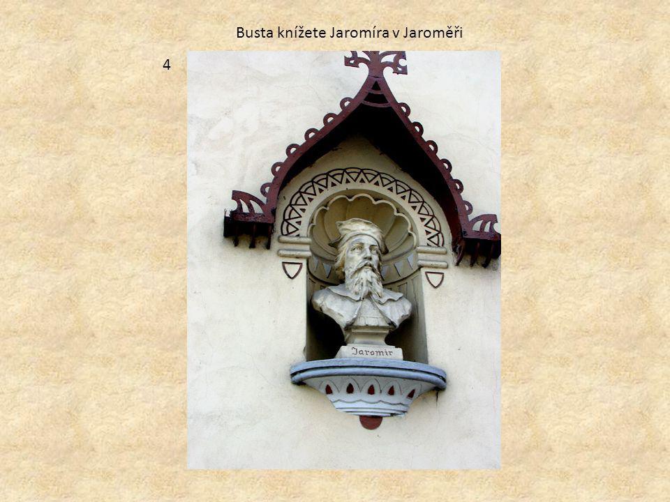 Busta knížete Jaromíra v Jaroměři