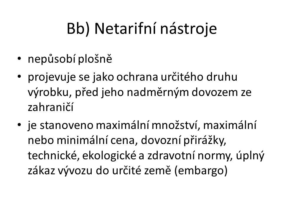 Bb) Netarifní nástroje