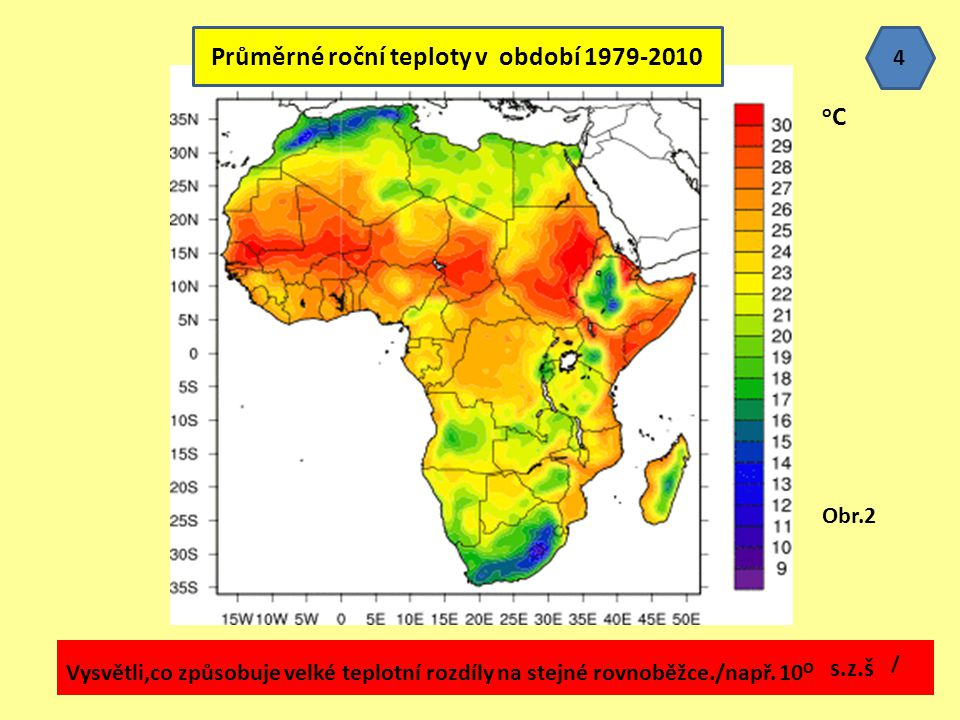 Průměrné roční teploty v období 1979-2010