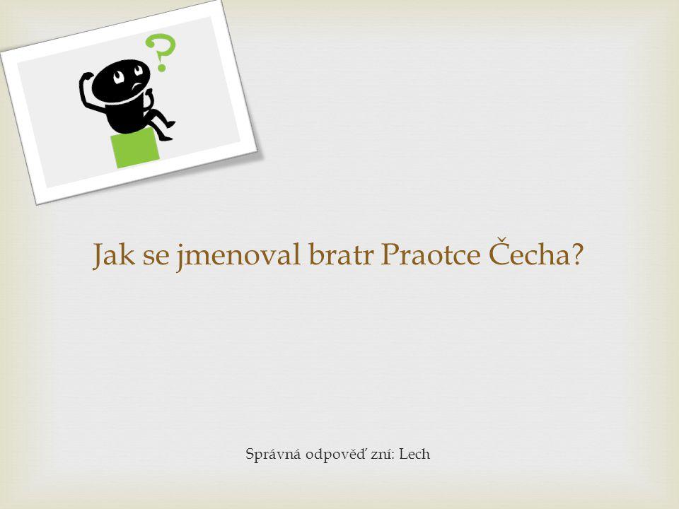 Jak se jmenoval bratr Praotce Čecha