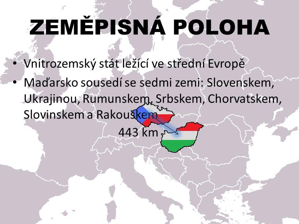 ZEMĚPISNÁ POLOHA Vnitrozemský stát ležící ve střední Evropě