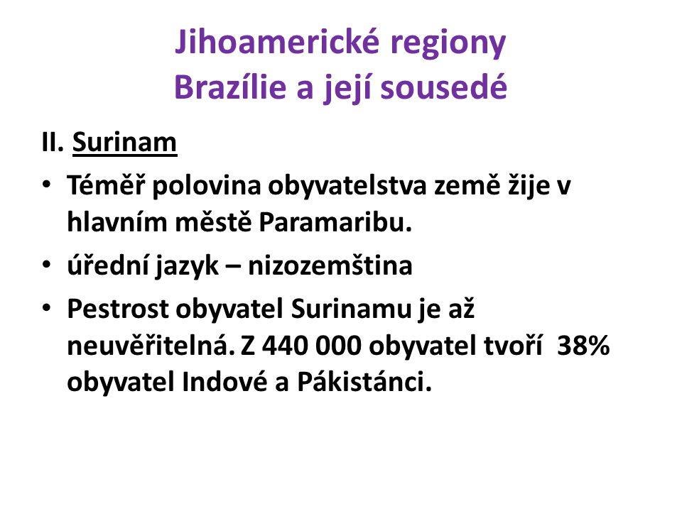 Jihoamerické regiony Brazílie a její sousedé