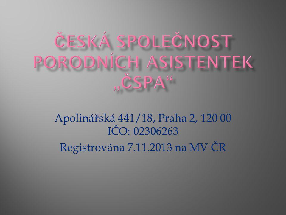 """Česká společnost porodních asistentek """"ČSPA"""