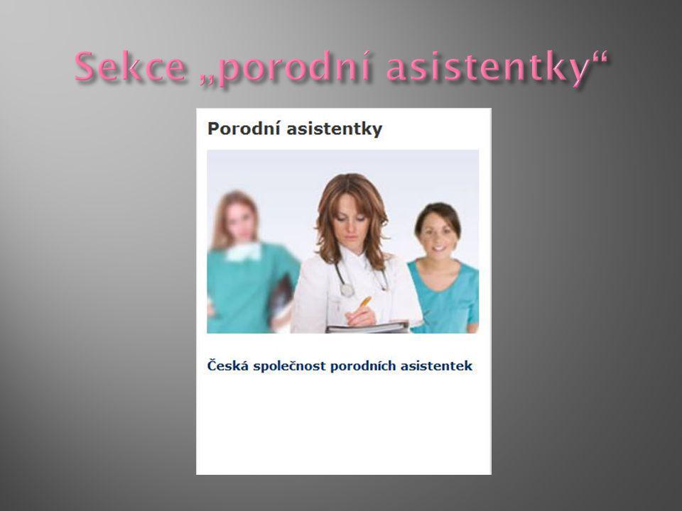 """Sekce """"porodní asistentky"""