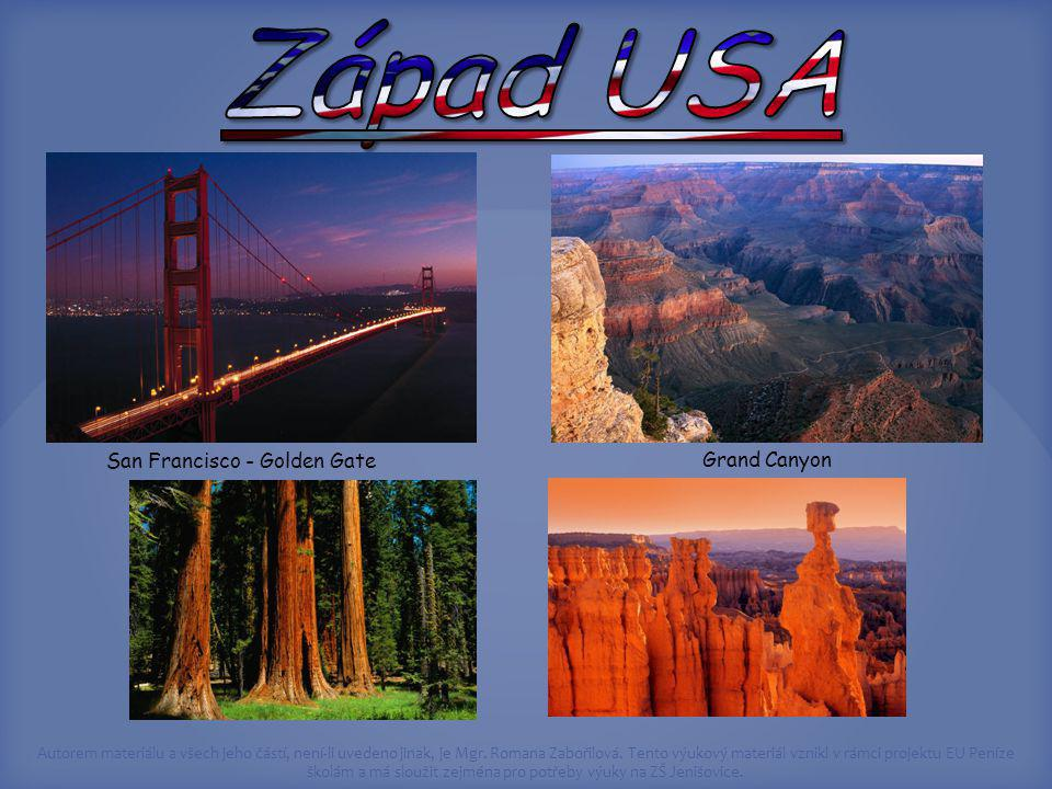 Západ USA San Francisco - Golden Gate Grand Canyon Obrázky z klipartů