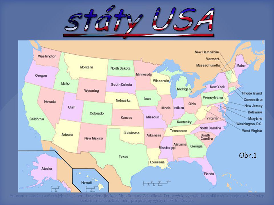státy USA Obr.1 http://cs.wikipedia.org/wiki/USA
