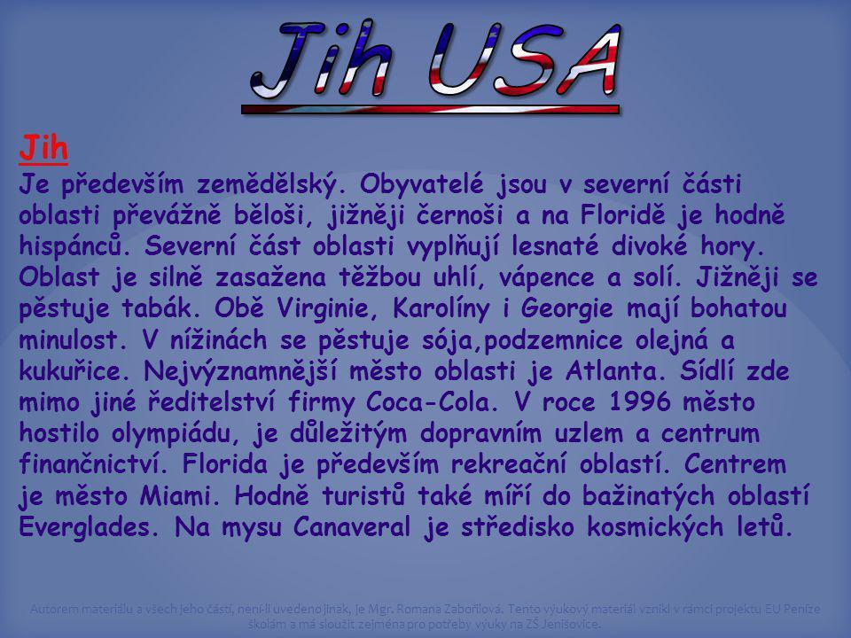 Jih USA Jih.
