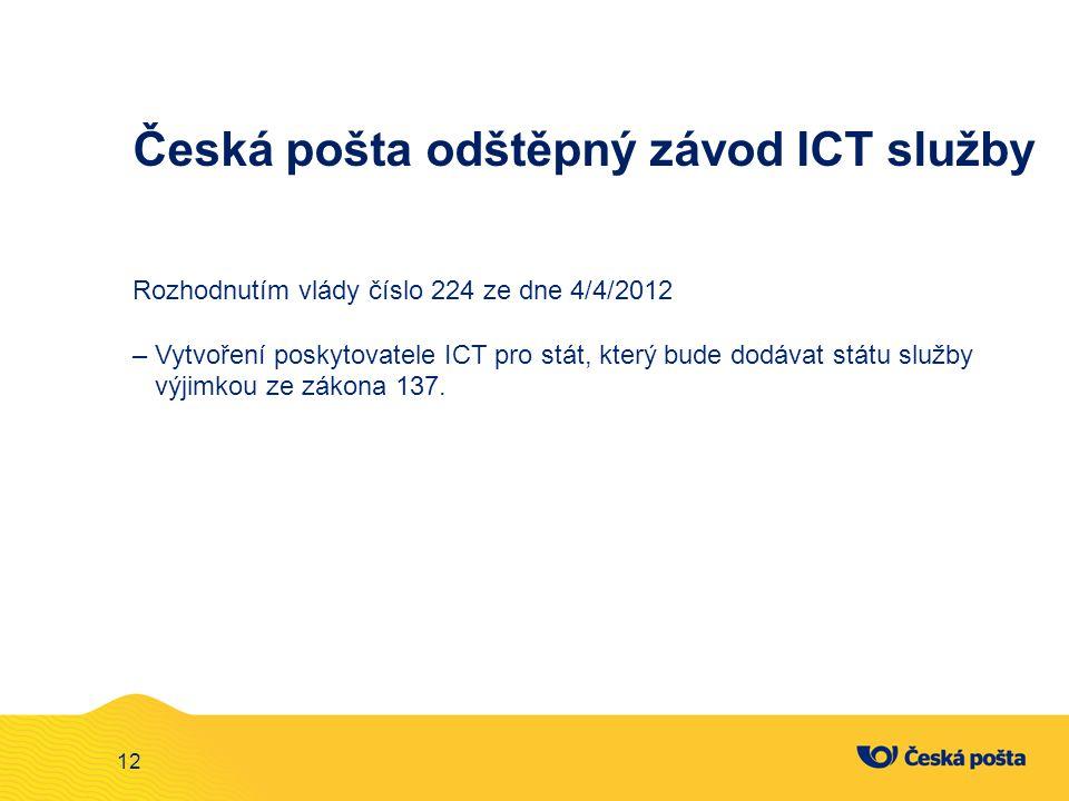 Česká pošta odštěpný závod ICT služby