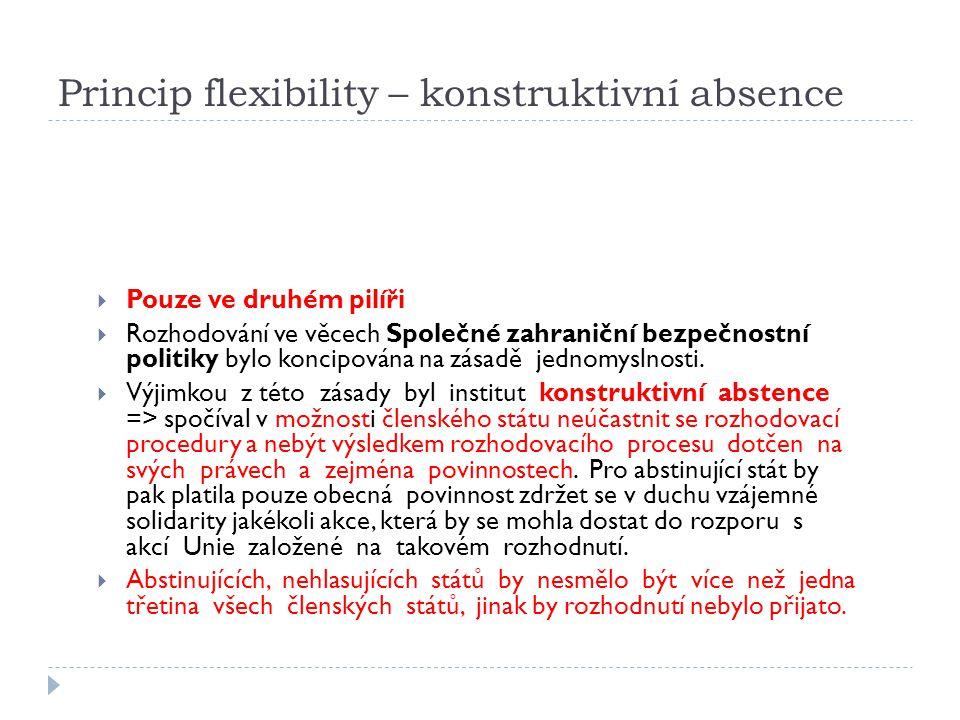 Princip flexibility – konstruktivní absence