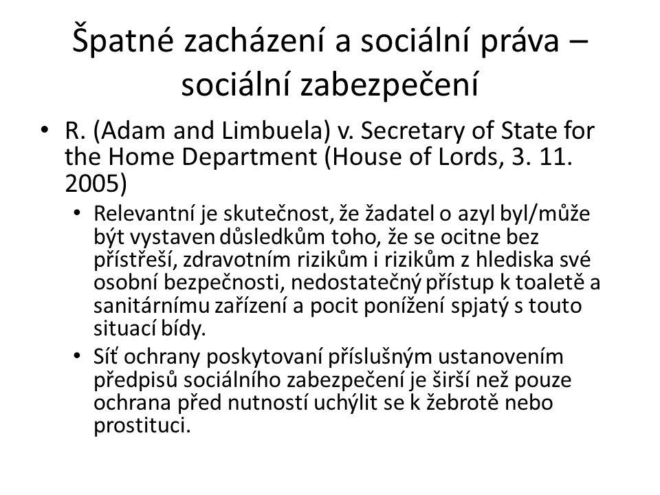 Špatné zacházení a sociální práva – sociální zabezpečení