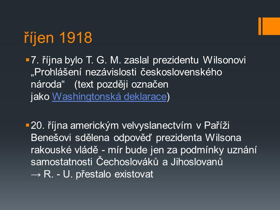 říjen 1918
