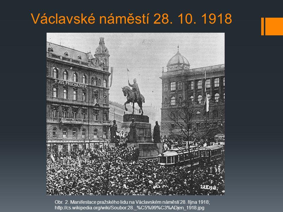 Václavské náměstí 28. 10. 1918