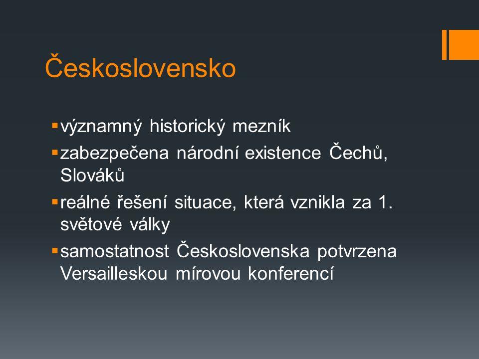 Československo významný historický mezník