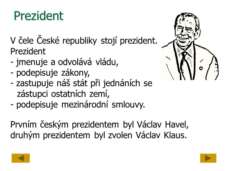Prezident V čele České republiky stojí prezident. Prezident