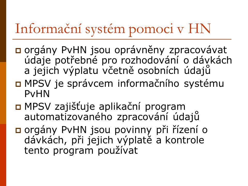 Informační systém pomoci v HN