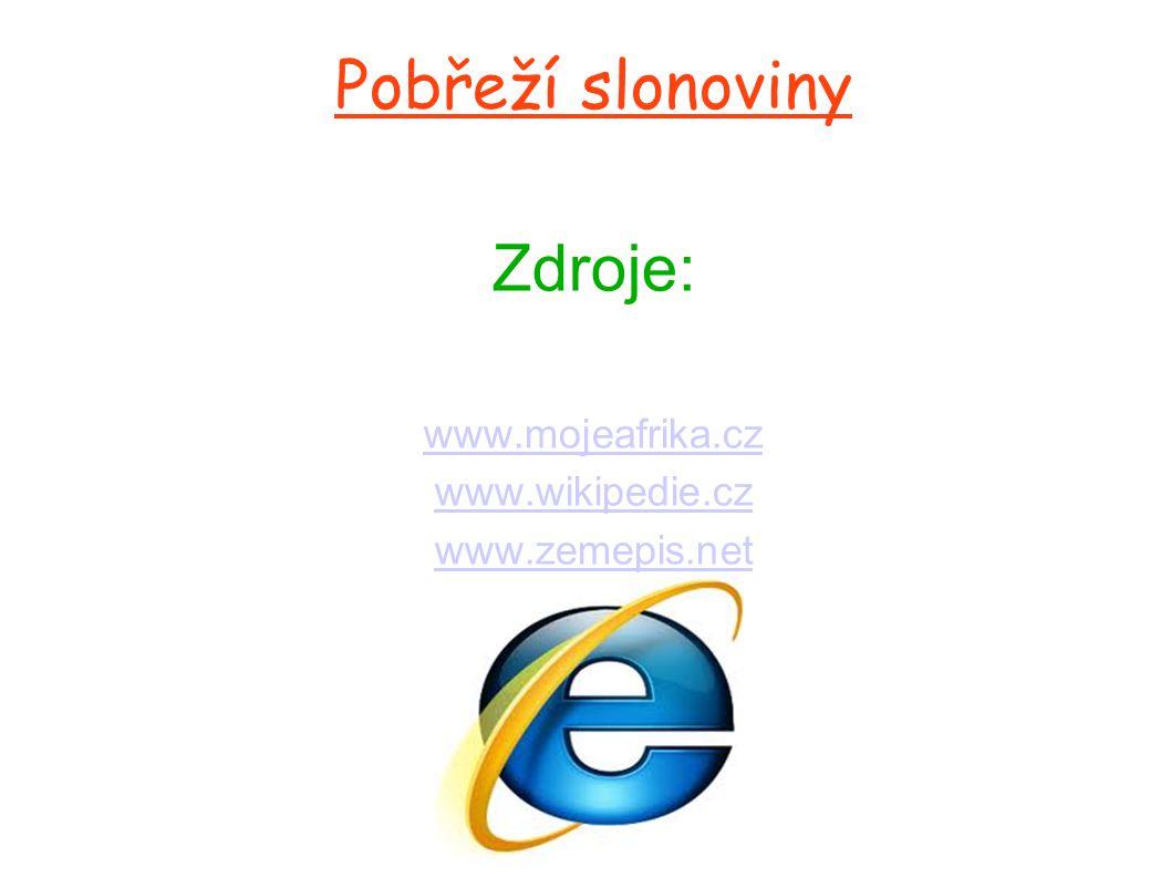 Pobřeží slonoviny Zdroje: www. mojeafrika. cz www. wikipedie. cz www