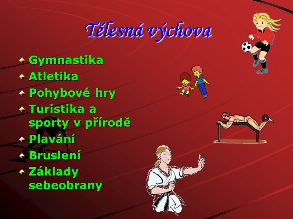 Tělesná výchova Gymnastika Atletika Pohybové hry