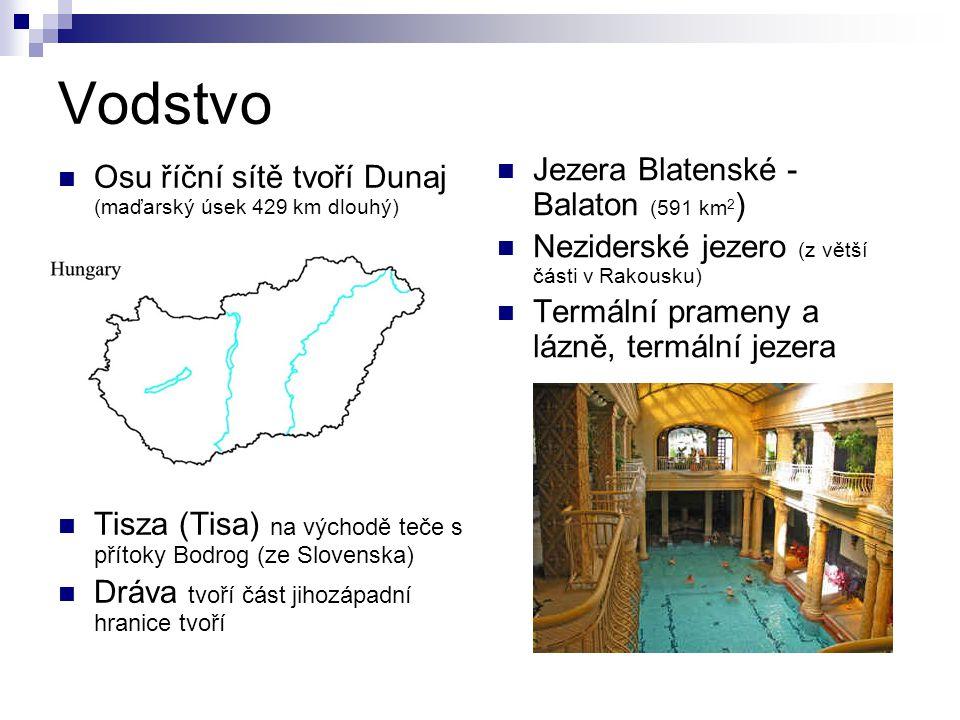 Vodstvo Jezera Blatenské - Balaton (591 km2)
