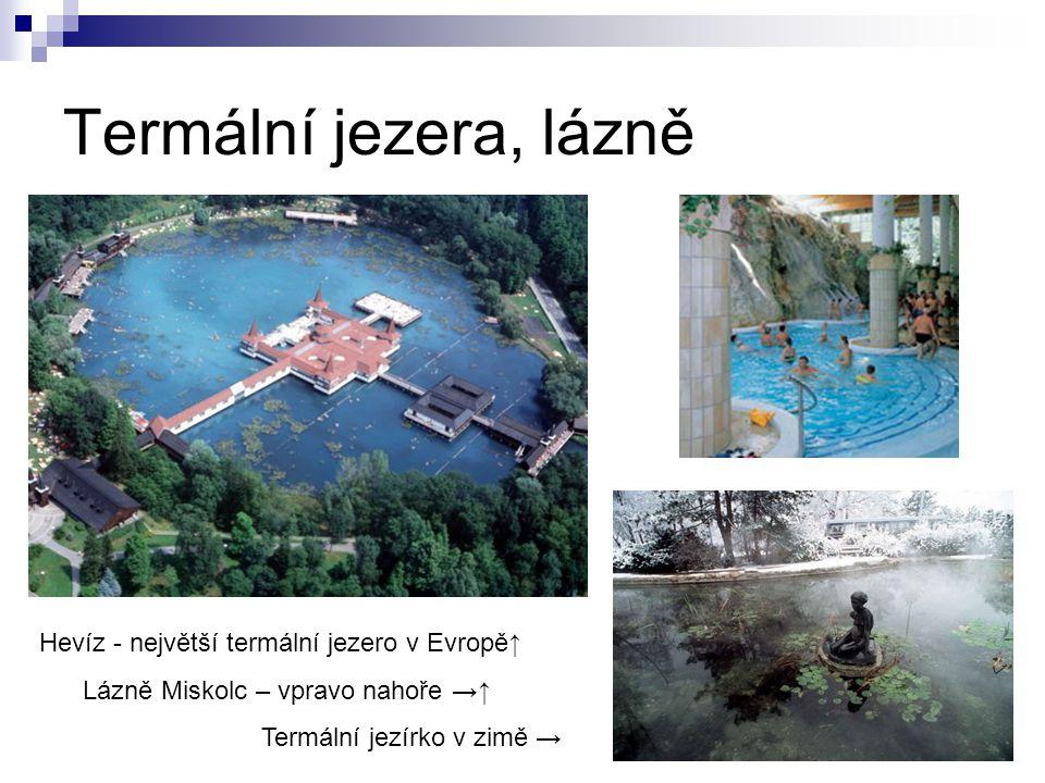 Termální jezera, lázně Hevíz - největší termální jezero v Evropě↑