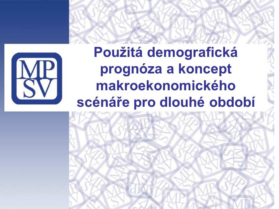 Použitá demografická prognóza a koncept makroekonomického scénáře pro dlouhé období