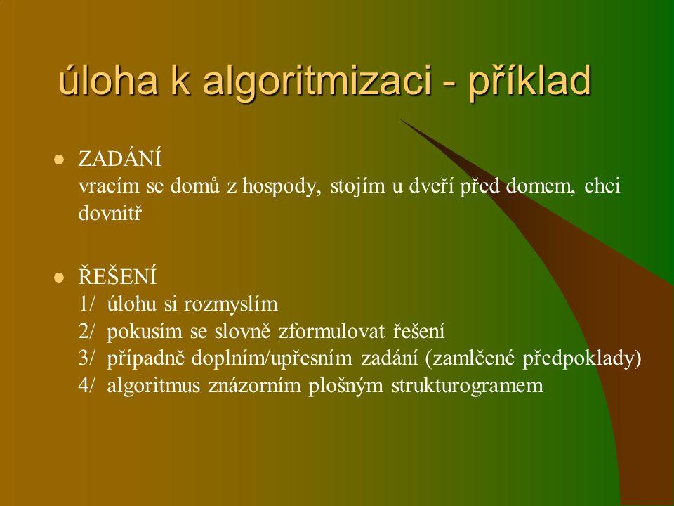 úloha k algoritmizaci - příklad