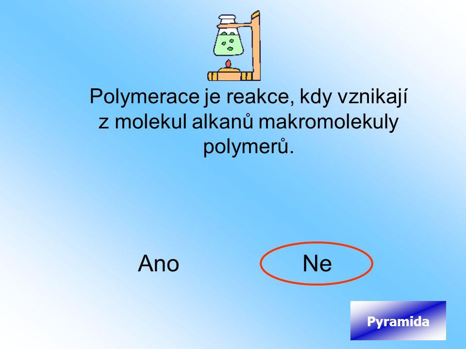 Polymerace je reakce, kdy vznikají z molekul alkanů makromolekuly polymerů.