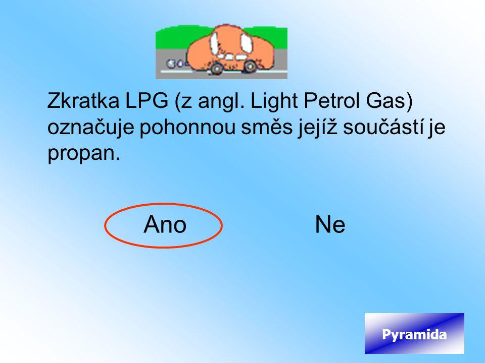 Zkratka LPG (z angl. Light Petrol Gas) označuje pohonnou směs jejíž součástí je propan.