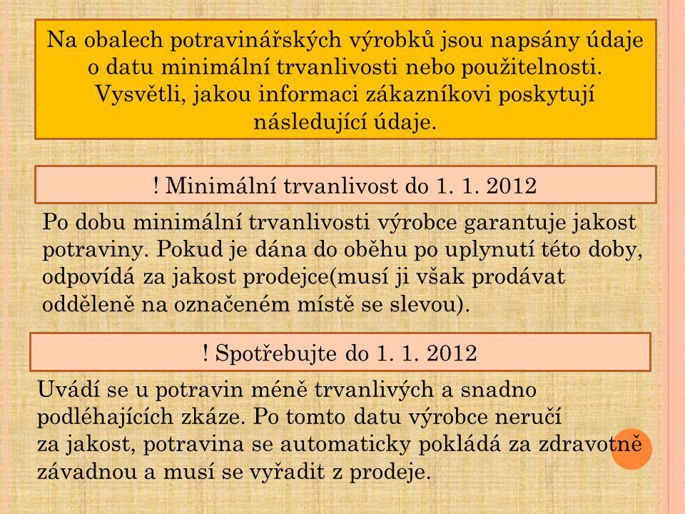 ! Minimální trvanlivost do 1. 1. 2012