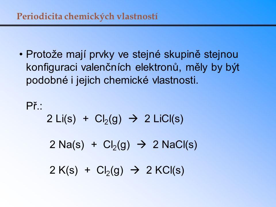 Periodicita chemických vlastností