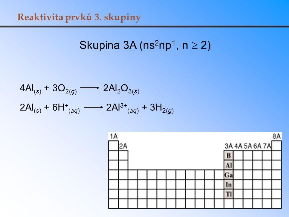 2Al(s) + 6H+(aq) 2Al3+(aq) + 3H2(g)