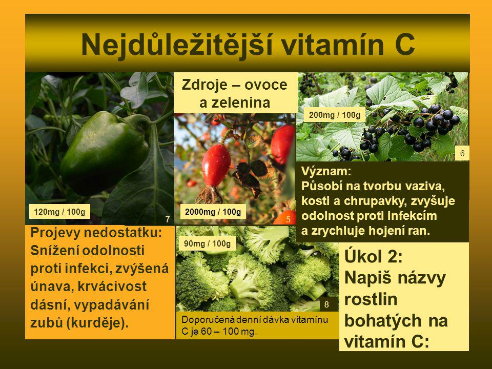 Nejdůležitější vitamín C